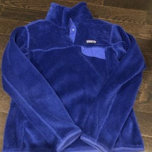 Patagonia Blue Fleece Pullover